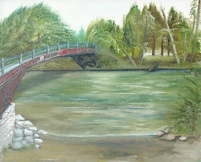 Mixed Media - Pioneer Bridge by Angela Stout