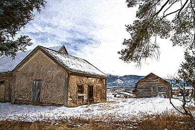 Pioneer Cabin Painterly Impression Art Print