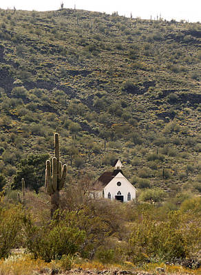 Living History Photograph - Frontier Church by Gordon Beck