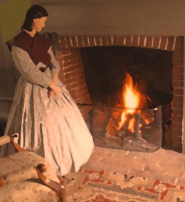 Digital Art - Pioneer Fire Impressions by Ian  MacDonald