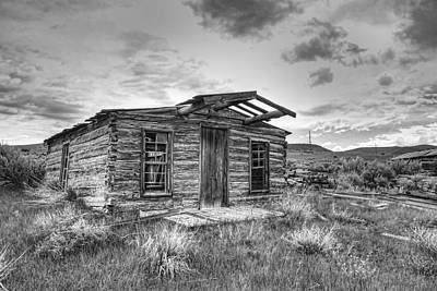 Pioneer Homes Photograph - Pioneer Home - Nevada City Ghost Town by Daniel Hagerman