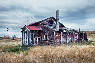 Photograph - Pioneer Homestead by Theresa Tahara