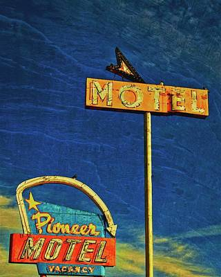 Photograph - Pioneer Motel, Albuquerque, New Mexico by Flying Z Photography by Zayne Diamond
