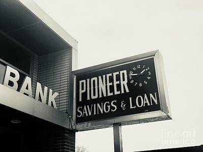 Photograph - Pioneer Savings And Loan by Michael Krek
