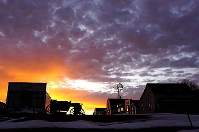 Photograph - Pioneer Town Sunset by Bryan Smith