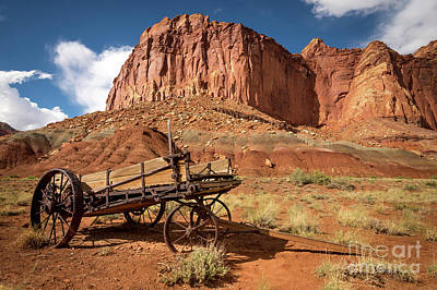 Photograph - Pioneer Wagon - Capitol Reef National Park - Utah by Gary Whitton