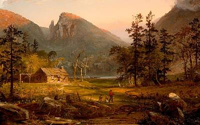 Log Cabins Painting - Pioneer's Home At Eagle Cliff - White Mountains by Mountain Dreams