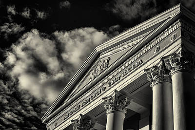 Photograph - Pioneers Palace In Ufa Russia In Black And White by John Williams