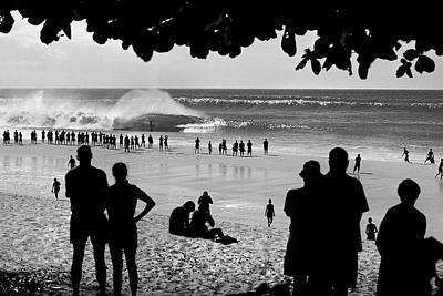 People On The Beach Photograph - Pipe Arena by Sean Davey