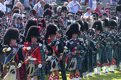 Photograph - Pipe Bands At Braemar Gathering 2017 by Phil Banks