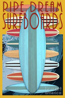 Digital Art - Pipe Dream Surfboards 4 by Edward Fielding