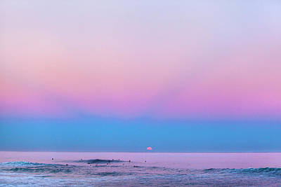 Pastel Sky Photograph - Pipe Moonset by Sean Davey