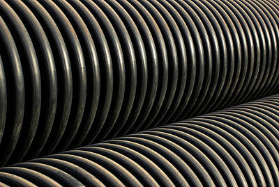 Photograph - Pipe Repetition Pattern Minimal by Prakash Ghai