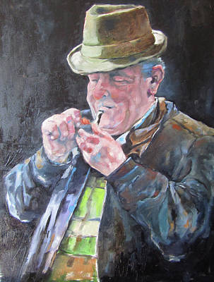 Painting - Pipe Smoker by Kevin McKrell