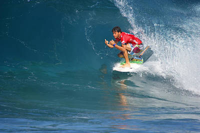 Triple Crown Of Surfing Photograph - Pipeline Masters Champion by Kevin Smith