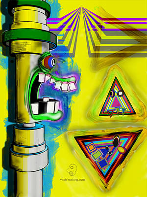 Painting - Pipe_mouth_2 by Yeah Nothing