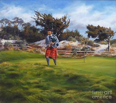 Golf Art Photograph - Piper At Spanish Bay by Shelley Cost