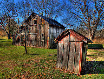 Photograph - Piper Barn And Outhouse by Don Wolf