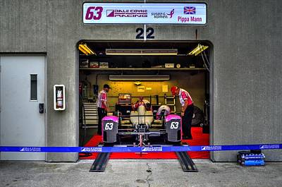 Indy Car Photograph - Pippa Mann Garage 2016 by Josh Williams