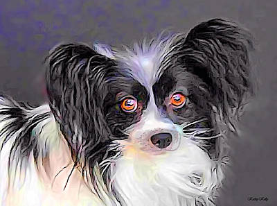 Breed Digital Art - Pippin The Papillon by Kathy Kelly