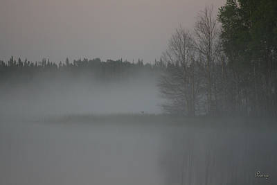 Piprell Lake 4 Am Mist Art Print by Andrea Lawrence