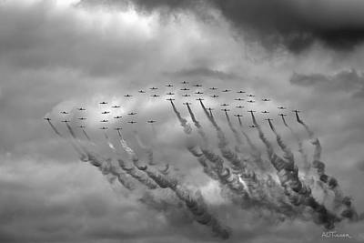 Pir March 2014 Flyover Art Print by A O Tucker