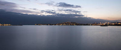 Photograph - Piraeus At Sunset Panoramic View by Radoslav Nedelchev