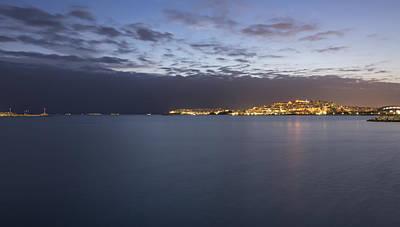 Photograph - Piraeus Athens Panoramic View At Sunset by Radoslav Nedelchev