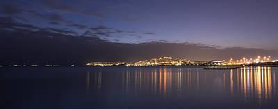 Photograph - Piraeus Marina In Athens Night View by Radoslav Nedelchev