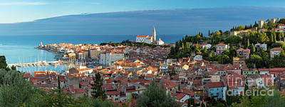 Photograph - Piran Dawn Pano by Brian Jannsen