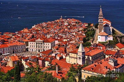 Photograph - Piran From The Castle Wall by Graham Hawcroft pixsellpix