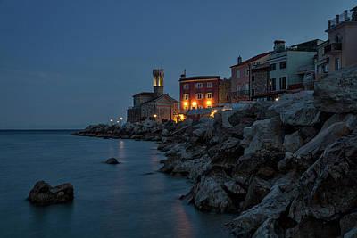 Photograph - Piran Lighthouse Dawn - Slovenia by Stuart Litoff