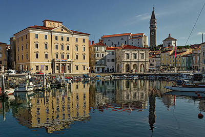 Photograph - Piran Marina Reflections #2 by Stuart Litoff