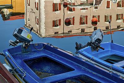 Photograph - Piran Marina Reflections #3 by Stuart Litoff