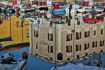 Photograph - Piran Marina Reflections by Stuart Litoff
