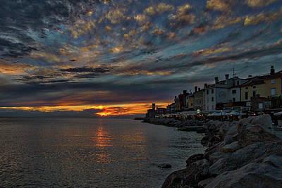 Photograph - Piran Slovenia Sunset by Stuart Litoff