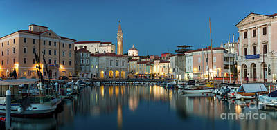 Photograph - Piran Slovenia Twilight by Brian Jannsen