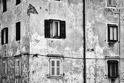 Photograph - Piran Windows - Slovenia by Stuart Litoff