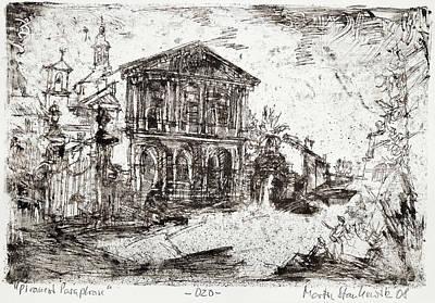 Painting - Piranesi Paraphrase No. 20 - Basilica Of Sebastiano Fuori Le Mura by Martin Stankewitz