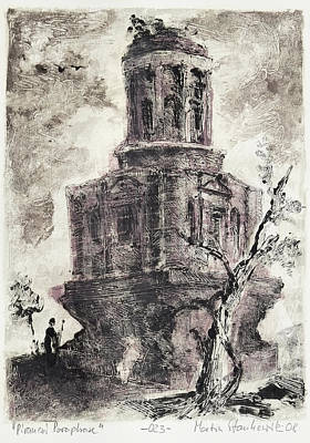 Painting - Piranesi Paraphrase No. 23 - Remains Of The Tomb Called La Conocchia by Martin Stankewitz