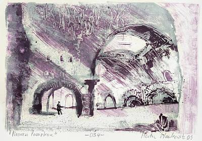 Painting - Piranesi Paraphrase No. 34 - Villa Di Mecenate In Tivoli by Martin Stankewitz