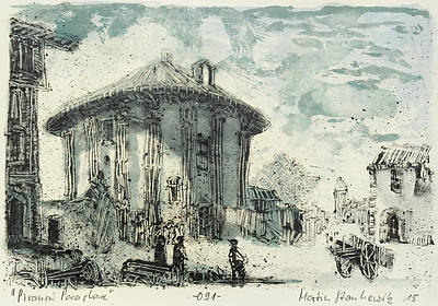 Painting - Piranesi Paraphrase No 91 Temple Of Cybele by Martin Stankewitz