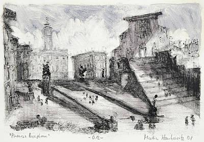 Painting - Piranesi Paraphrase No.12 ,basilica Of Santa Maria In Ara Coeli by Martin Stankewitz