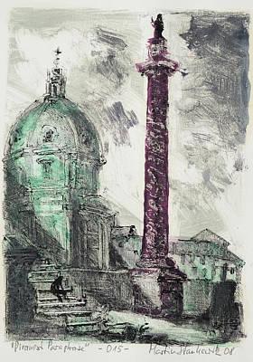 Painting - Piranesi Paraphrase No.15 Colonna Traiana by Martin Stankewitz