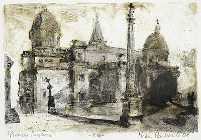 Painting - Piranesi Paraphrase No.16 Basilica S. Maria Maggiore by Martin Stankewitz