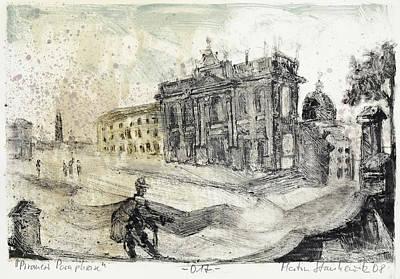 Painting - Piranesi Paraphrase No.17 Basilica Di San Giovanni Laterano by Martin Stankewitz