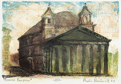 Painting - Piranesi Paraphrase No.24 - View Of The Pantheon by Martin Stankewitz