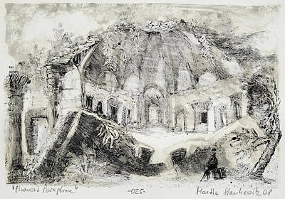 Painting - Piranesi Paraphrase No.25 - Remains Of The Canopus A Hadrian Villa,tivoli by Martin Stankewitz