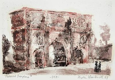 Painting - Piranesi Paraphrase No.29 - Arch Of Constantine by Martin Stankewitz