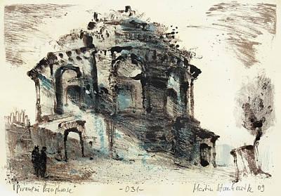 Painting - Piranesi Paraphrase No.31 - View Of The Tempio Della Tosse by Martin Stankewitz